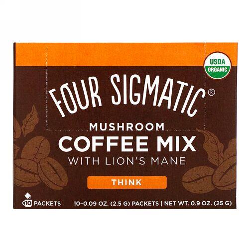 Four Sigmatic, ヤマブシタケ入りマッシュルームコーヒーミックス、10袋、各2.5g(0.09オンス)