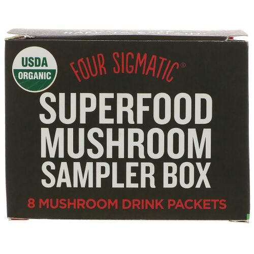 Four Sigmatic, スーパーフード・マッシュルームサンプラーボックス、マッシュルームドリンク8パック (Discontinued Item)