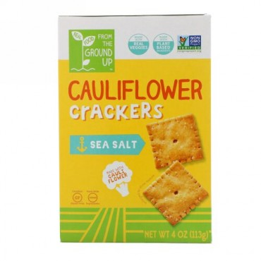 From The Ground Up, Cauliflower Crackers, Sea Salt, 4 oz (113 g) (Discontinued Item)