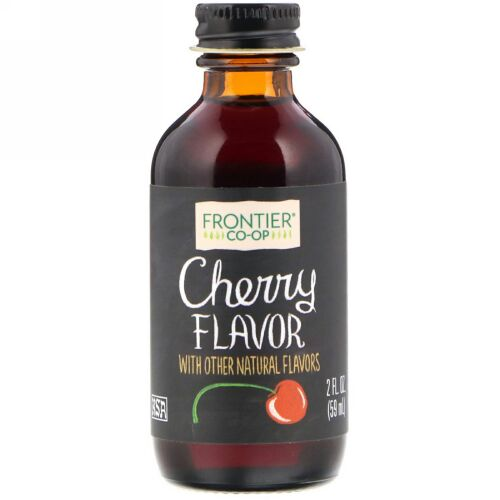 Frontier Natural Products, チェリー フレーバー 2 オンス (59 ml) (Discontinued Item)