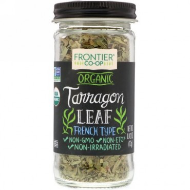 Frontier Natural Products, Organic, Tarragon Leaf, French Type, 0.42 oz (12 g) (Discontinued Item)