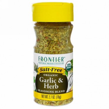Frontier Natural Products, オーガニック・ガーリック&ハーブ調味料ブレンド、2.7 オンス(76 g)