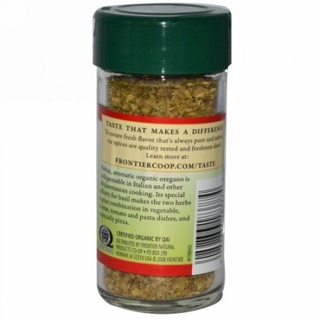 Frontier Natural Products, オーガニック オレガノの 葉 フレーク状, 0.36 オンス (10 g) (Discontinued Item)