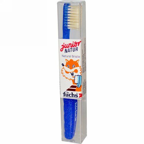 Fuchs Brushes, Junior Natur Natural Bristle Toothbrush, Child Medium (Discontinued Item)