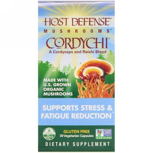 Fungi Perfecti, Cordychi ストレスサポート & 疲労減少 植物性カプセル30粒 (Discontinued Item)