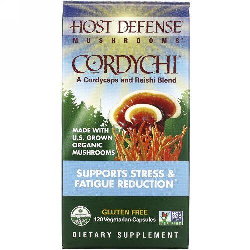 Fungi Perfecti, Cordychii, Supports Stress & Fatigue Reduction, 120 Vegetarian Capsules