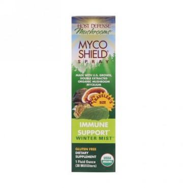 Fungi Perfecti, マッシュルーム オーガニックマイコシールドスプレー 免疫サポート ウィンターミスト 1液量オンス(30 ml)