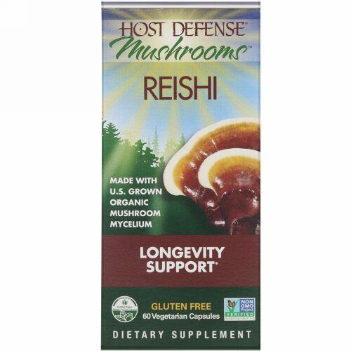 Fungi Perfecti, Mushrooms, Reishi,  Longevity Support, 60 Vegetarian Capsules