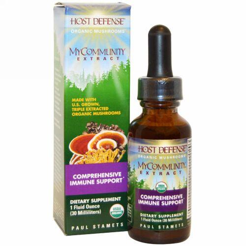 Fungi Perfecti, マイコミュニティエキス 総合免疫サポート 1液量オンス(30 ml)