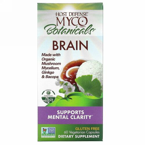 Fungi Perfecti, MycoBotanicals, Brain, 60 Vegetarian Capsules