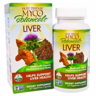 Fungi Perfecti, Myco Botanicals Liver, Helps Support Liver Health, 60 Vegetarian Capsules