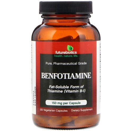 FutureBiotics, Benfotiamine, Fat-Soluble Form of Thiamine(Vitamin B-1), 120 Vegetarian Capsules (Discontinued Item)