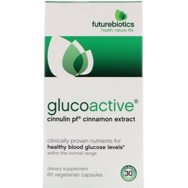 FutureBiotics, グルコアクティブ、 シヌリン PF シナモンエキス、  60植物性カプセル (Discontinued Item)