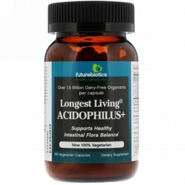 FutureBiotics, Longest Living Acidophilus+, 100 Vegetarian Capsules
