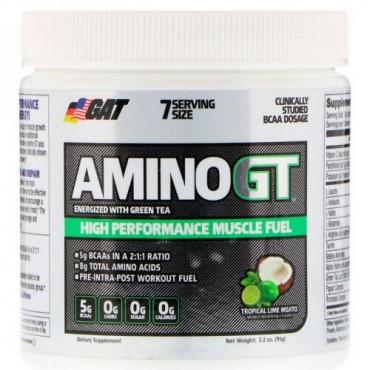 GAT, アミノGT、高パフォーマンスの筋肉栄養、トロピカルライム・モヒート、3.2 oz (91 g) (Discontinued Item)
