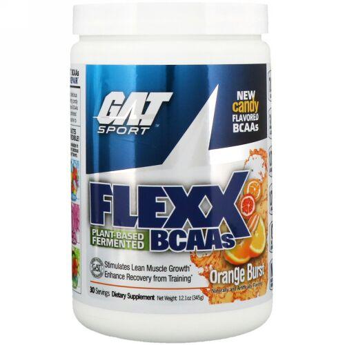 GAT, Flexx BCAA、オレンジブラスト、12.1オンス (345 g) (Discontinued Item)