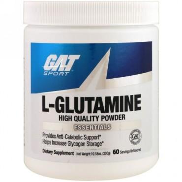 GAT, L-グルタミン、無香料、10.58オンス(300g)