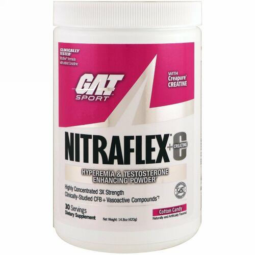 GAT, NITRAFLEX + Creatine, Cotton Candy, 14.8 oz (420 g)