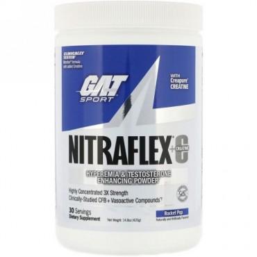 GAT, Nitraflex+Creatine, Rocket Pop, 14.8 oz (420 g) (Discontinued Item)