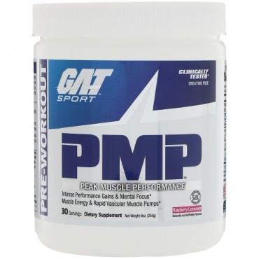 GAT, PMP、 プレワークアウト、 ピーク マッスル パフォーマンス、 ラズベリーレモネード、 9 oz (255 g)
