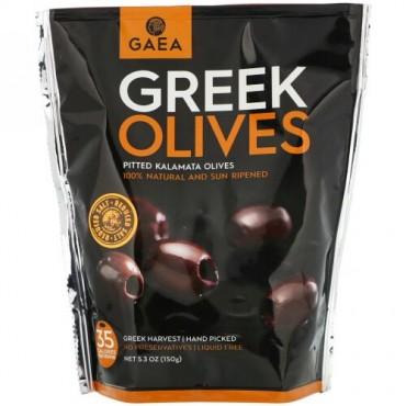 Gaea, Greek Olives, Pitted Kalamata Olives, 5.3 oz (150 g)