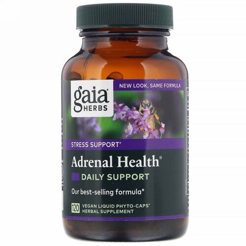 Gaia Herbs, Adrenal Health、120ベジ・リキッド・フィトキャップ