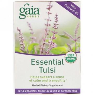 Gaia Herbs, エッセンシャルタルシー、カフェインフリー、16袋、1.02 oz (28.8 g) (Discontinued Item)