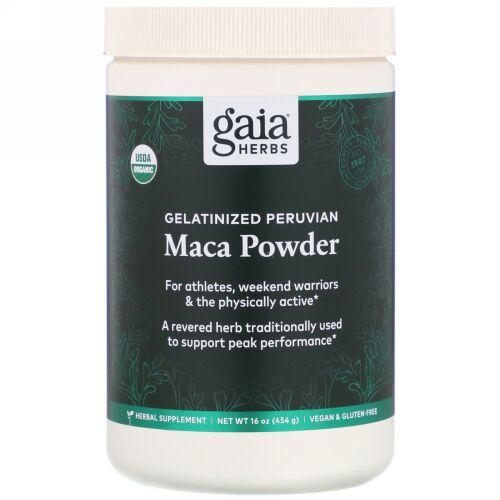 Gaia Herbs, Gelatinized Peruvian Maca Powder, 16 oz (454 g)