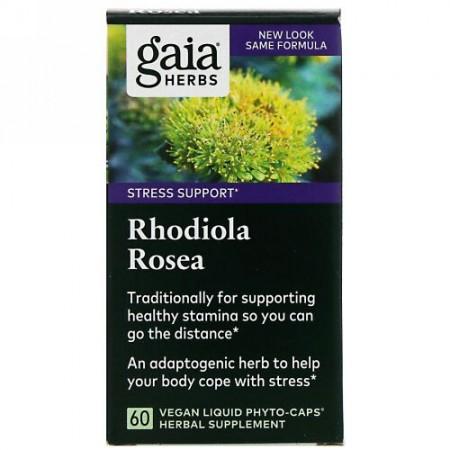 Gaia Herbs, イワベンケイ、ベジタリアンリキッドフィトカプセル60粒