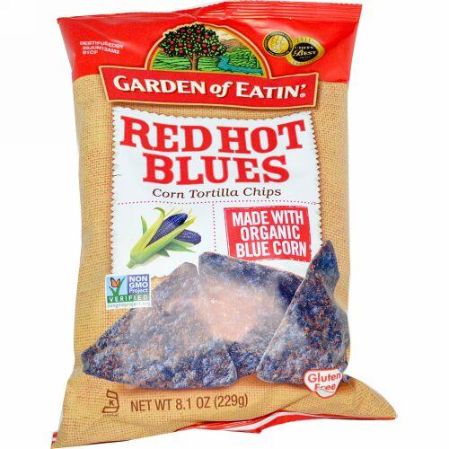 Garden of Eatin', コーントルティーヤチップス、レッド・ホット・ブルース、8.1 oz (229 g)