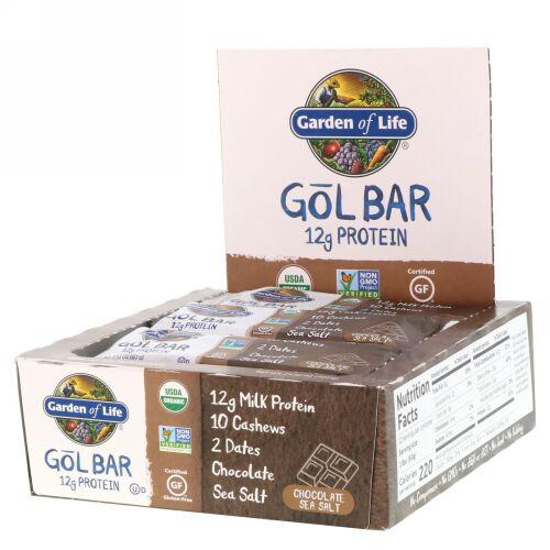 Garden of Life, GOL Bars, Chocolate Sea Salt, 12 Bars, 2.11 oz (60 g) Each (Discontinued Item)