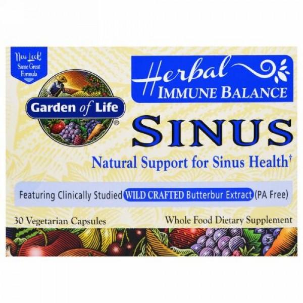 Garden of Life, Immune Balance, Sinus, 30 Veggie Caps (Discontinued Item)