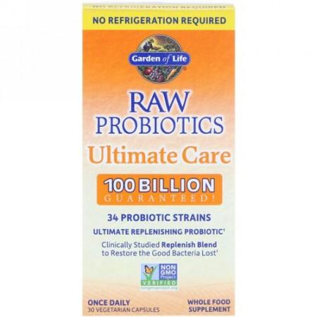 Garden of Life, RAW Probiotics Ultimate Care, 30 Vegetarian Capsules