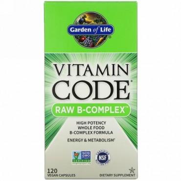 Garden of Life, Vitamin Code(ビタミンコード)、未加工B‐コンプレックス、ビーガンカプセル120粒