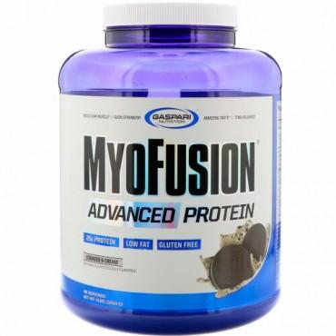 Gaspari Nutrition, MyoFusion、アドバンスドプロテイン、クッキー & クリーム、1814g(4 lbs)