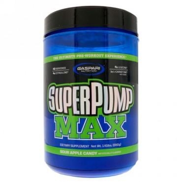 Gaspari Nutrition, スーパーパンプマックス、アンクル・リッチーのサワーアップル、1.41ポンド(640 g) (Discontinued Item)