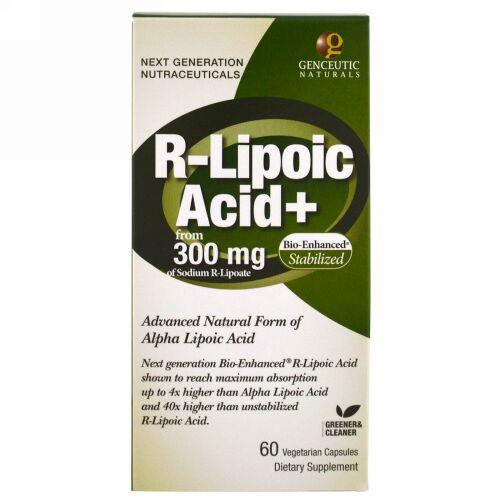 Genceutic Naturals, R-Lipoic Acid+, 300 mg, 60 Vegetarian Capsules