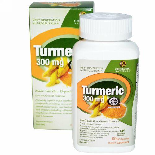 Genceutic Naturals, ウコン、 300 mg、 60 NP ナチュラルカプセル (Discontinued Item)
