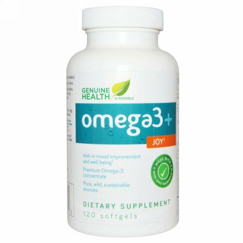 Genuine Health, オメガ3+ ジョイ、120 ソフトジェル