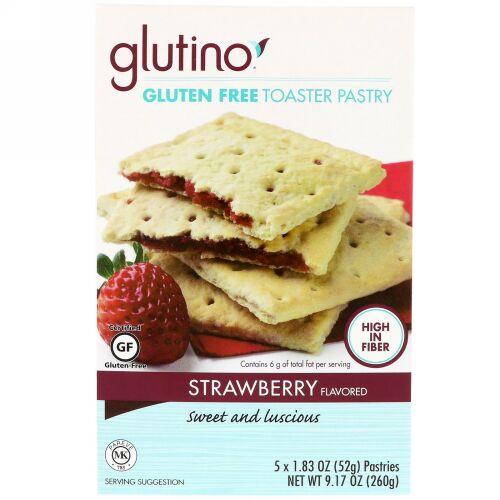 Glutino, グルテンフリートースターペストリー、ストロベリー、5ペストリー、各1.83オンス (52 g) (Discontinued Item)