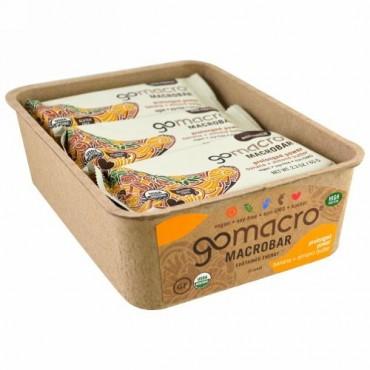 GoMacro, マクロバー、プロロングド パワー、バナナ + アーモンドバター、12本、各2.3 oz (65 g) (Discontinued Item)