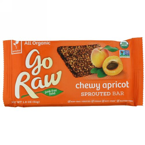 Go Raw, Organic, Chewy Apricot Sprouted Bar, 1.8 oz (51 g) (Discontinued Item)