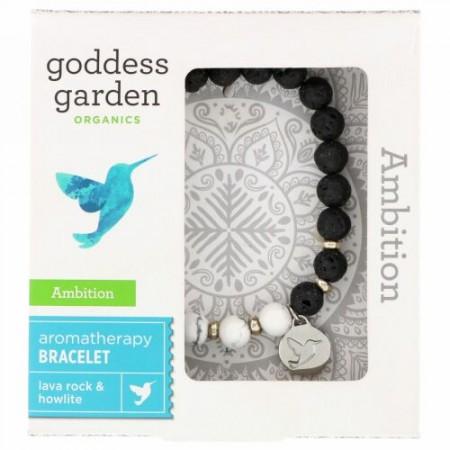 Goddess Garden, オーガニクス, アンビション, アロマテラピーブレスレット, ブレスレット1個 (Discontinued Item)
