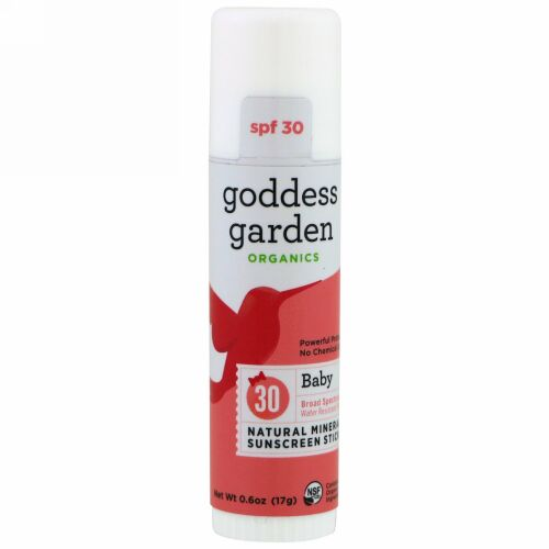 Goddess Garden, Organics, Natural Mineral Sunscreen Stick, Baby, SPF 30, 0.6 oz (17 g) (Discontinued Item)