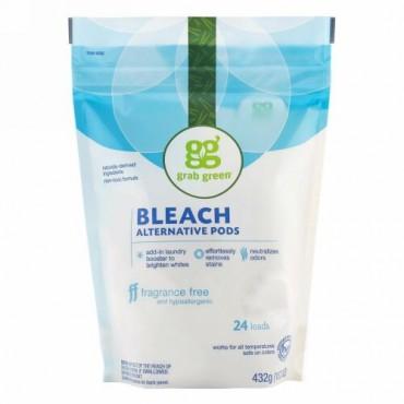 Grab Green, ブリーチオルタナティブポッド、 無香料、 24ロード、 15.2 oz (432 g)