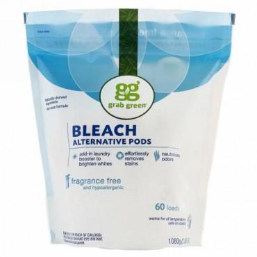 Grab Green, ブリーチオルターナティブ, 無香料, 60 回分, 2 ポンド 4 オンス (1080 g)