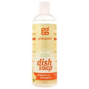 Grab Green, 食器用洗剤、 タンジェリン レモングラス、 16 oz (473 ml) (Discontinued Item)