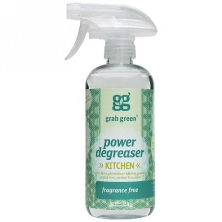 Grab Green, 油落としクリーナー、 無香料、 16 oz (473 ml) (Discontinued Item)