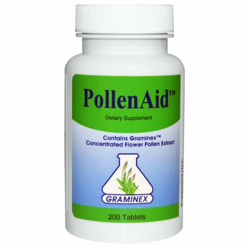 Graminex, ポレン・エイド(PollenAid)、 200 タブレット (Discontinued Item)