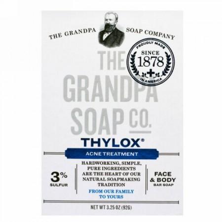 Grandpa's, Thyloxニキビトリートメント、フェイス&ボディソープ、3.25 oz (92 g)
